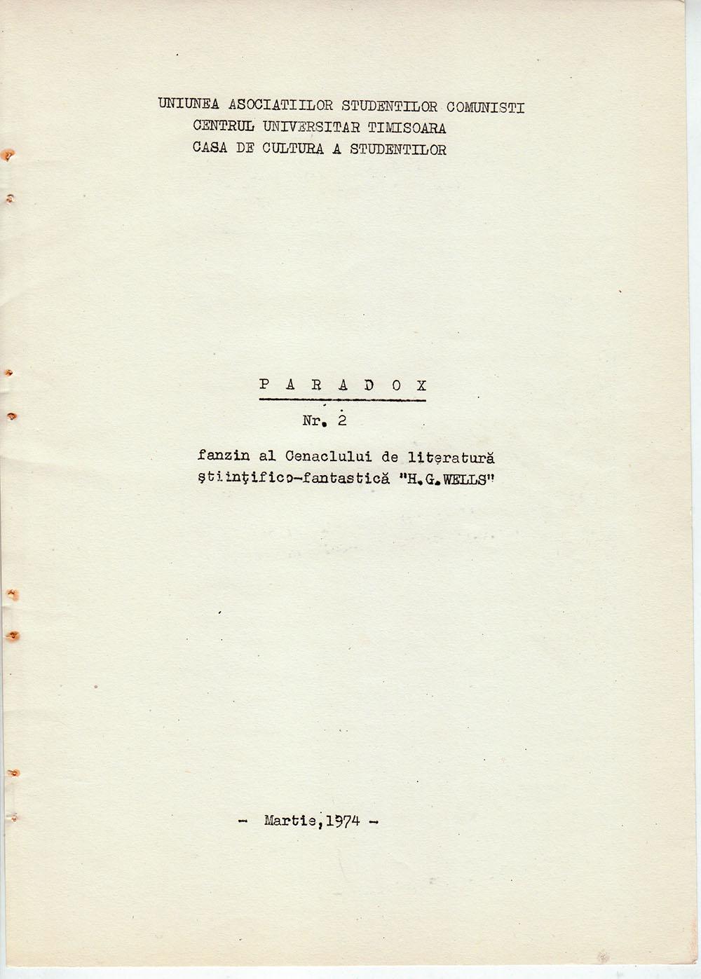 Paradox nr. 2/1974